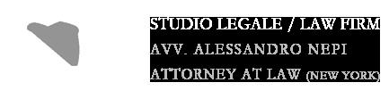 Avv. Alessandro Nepi, Attorney at Law (New York) Logo